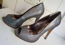 Dune Mujer Stiletto Brillo Metálico Arco Iris Stiletto Tacones Zapatos Talla Uk 5 EU 38
