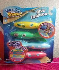 Time to Splash Dive Torpedo 4 Pack Pool Water Toys Retrieve Swim Learn Anky NIB