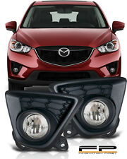 2013 2014 2015 Mazda CX-5 Clear Bumper Driving Fog Lights Full Complete Kit Set