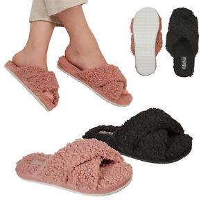Skechers Womens Cozy Sherpa Slip-On Memory Foam Comfort Vegan Slide Slippers