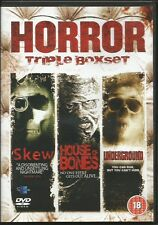 Horror Boxset - Skew / House Of Bones / Underground 3 DVD Set FREE SHIPPING