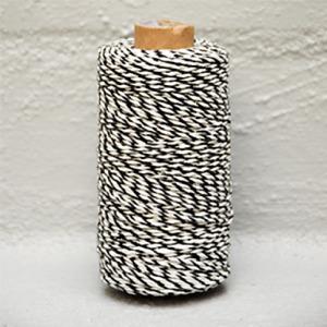 Baker Twine Black -White 2 mm x 100 Metres
