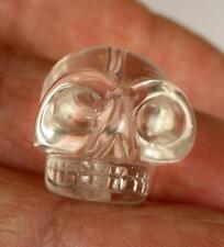 Tibetan High Altitude Gem Quartz Crystal SINGLE SKULL small BEAD GANESH HIMAL