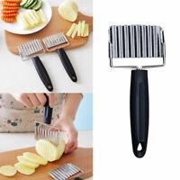 Edelstahl Kartoffeln Chipper Welle schneiden Küche Werkzeuge Gadgets O0X4 C9P1