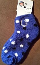 INDIANAPOLIS COLTS SOCKS PLUSH SLIPPER BLUE FUZZY SOFT NEW NFL LUCK MANNING