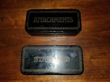 Vintage Greist  Rotery Sewing Machine Attachments Parts in Metal Box Singer