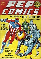 Pep Comics #1 Photocopy Comic Book, 1st The Shield, The Comet, Bentley