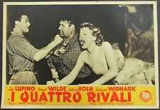 I Quattro Rivali - Celeste Holm & Wilde & Widmark - Film Poster Plakat (Y-4571+