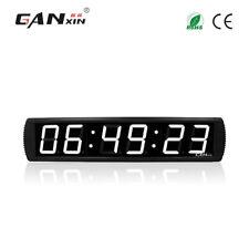 [Ganxin]4 inch white modern digital wall clock led large wall alarm clock timer