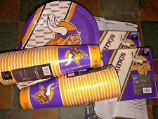 Minnesota Vikings Party Pack - 80 Paper Cups, 80 Plates, 80 Napkins & 80 Forks