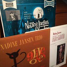 3x SIGNED NADINE JANSEN Jantone LPs Private Outsider SOUL JAZZ Femme AZ Arizona