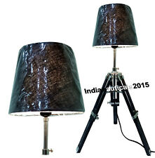 Nautical Collectible Marine Style Table Wooden Tripod Bedside Lamp Home Decor