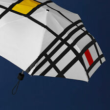 Artist Piet Mondrian: Unisex Folding Umbrella Based on His Composition Gift Item