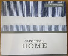 SANDERSON Standard Pillowcase PAIR New WILLOW TREE BLUE