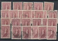 Australia 1948 5/- Robes Collection Of 25 Study Research VFU J9974