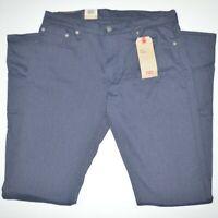 NWT LEVI'S 511 Slim Fit Flannel Stretch Dark Blue Jeans Sz 33 x 34