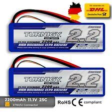 2X Turnigy 2200mAh 3S 25C-35C 3S Lipo Akku 11,1V Blade,T-rex 450 usw. 30- HM92m2