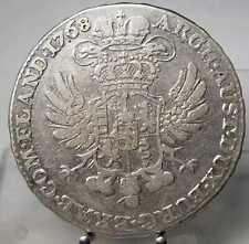 1/2 Kronentaler 1768, Maria Theresia, Brüssel, Silber