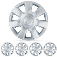 "New Set 15"" Silver 4pc Hubcaps Wheel Cover OEM Replacement Wheel Total"