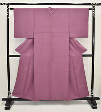 VINTAGE SILK WEDDING KIMONO:Classic Purple Fine Stripe@K243