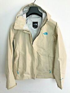 Womens The North Face Jacket / Coat size UK M/L Waterproof Hyvent 2.5L Cream