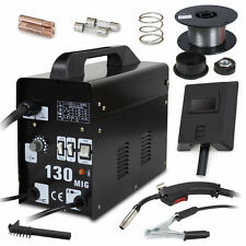 MIG 130 Welder Automatic Feed Gas Less Flux Core Wire Welding Machine Face Mask