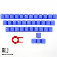 Blue color 37 Keycaps with White text on Top for Cherry MX Series keyboard