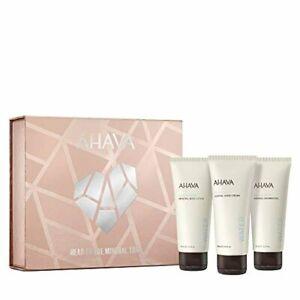 ✅AHAVA Head To Toe Mineral Trio Value Set Dead Sea Mineral Hand Cream Body Lot