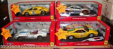 LOT OF 4 DIFFERENT FERRARI HOT WHEELS DIRTY RACE CARS 1:18 NEW BLOWOUT PRICING
