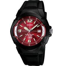 Casio MW600F-4AV Men's Black Resin Band Red Dial 100M Analog HD Series Watch