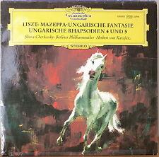 LISZT: Mazeppa/Hungarian Rhapsodies Nos. 4 & 5/+NM GER IMP LP CHERKASSKY/KARAJAN