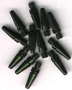 .75in. 2ba Green Aluminum Dart Shafts: 3 per set