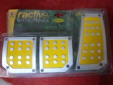 BMW Ractive TP502YL Pedals Manual Gas Brake Clutch Manual Transmis Yellow Silver