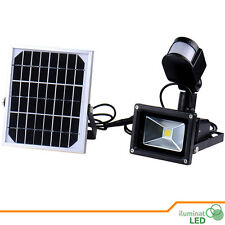 Solar LED Floodlight with Motion Sensor PIR + Solar Panel Light Outdoor - 10W