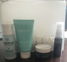 Virtue Hair Discovery Set, 4 x Products & Bag, inc Split End Serum, RRP £60 NEW