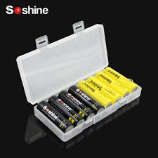SOSHINE HARD PLASTIC CASE 18650/AA/AAA BATTERY COVER HOLDER CELLS STORAGE BOX 5
