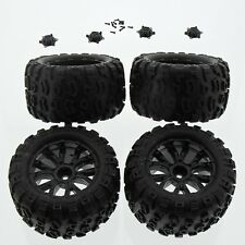 Team Losi Ten-MT Monster Truck 1/10: Factory Mounted/Glued Tires & Wheels, Caps