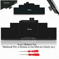 """A1417 Battery For Apple Macbook Pro 15"""" Retina A1398 2012 2013 OEM 95Wh Genuine"""