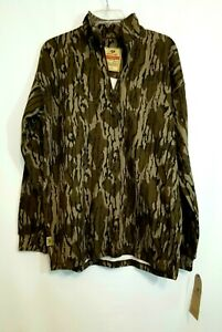 Mossy Oak Vintage Camo 1/4 Zip Jacket, Men's Size Med, Quarter Zip Pullover, NEW