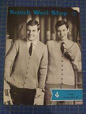 VINTAGE SCOTCH LANA shop Uomo Cardigan & Gilet Knitting Pattern 992