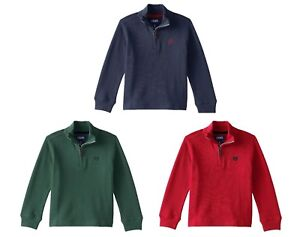 Chaps Boys' ¼ Zip Mock Neck Cotton Pullover Sweater - Select a size/color