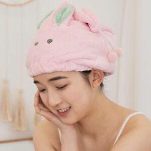 Cartoon Quick Drying Hair Absorbent Towel Turban Wrap Soft Shower Bath Cap Hat