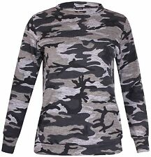Ladies Camouflage Two Piece Tracksuit Jogging Top Bottom Track Set 16-28