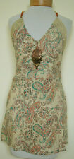 New_Beautiful_Boho Peasant_Cotton Tunic Halter Top with Pendant_Free Size_S-M-L