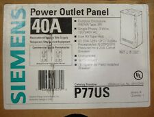 Five new Siemens Power outlet boxs 20 amp Gfi Receptacle outdoor Rainproof P77Us