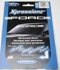 ford powerstroke front top truck auto sticker decal window logo windshield white