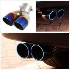 73mm Dia Chrome Colorful Stainless Steel Car Exhaust Dual Slant Polished Tip