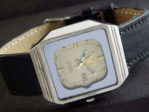 OLD VINTAGE SEIKO 5 AUTOMATIC JAPAN MEN'S DAY/DATE WATCH 436-a218996-3