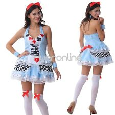 3pcs Sexy Women Naughty French Maid Dress Costume Cosplay Fancy Party Halloween