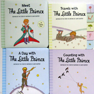 Meet Little Prince, Day With the Little Prince, Counting, Travel (4 Board Books)